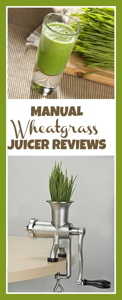 Manual wheatgrass juicer reviews