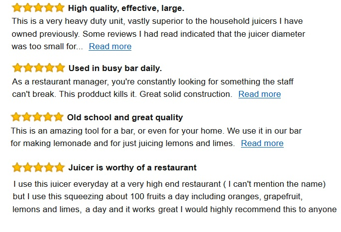 Manual citris juicer reviews