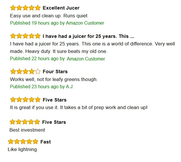 Juice fountain reviews
